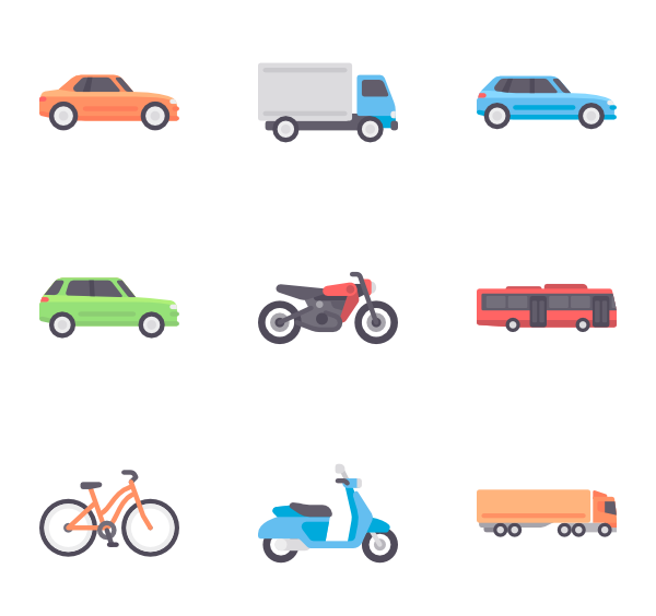 Vector pict car. Icons free transport
