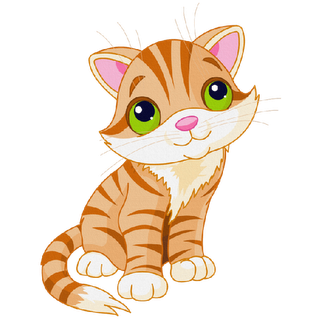 Cute artwork art gatos. Vector cats tabby cat png