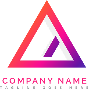 Vector triangles colorful. Triangle logo vectors free