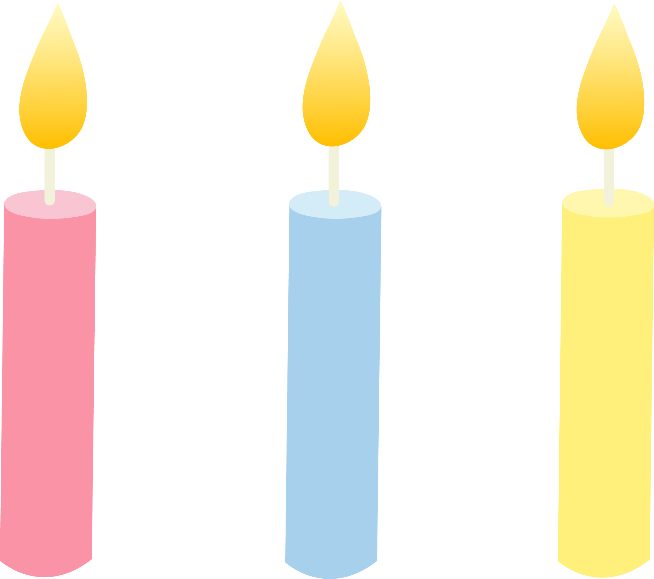 Drawing candles cute. Lit birthday candle clipart