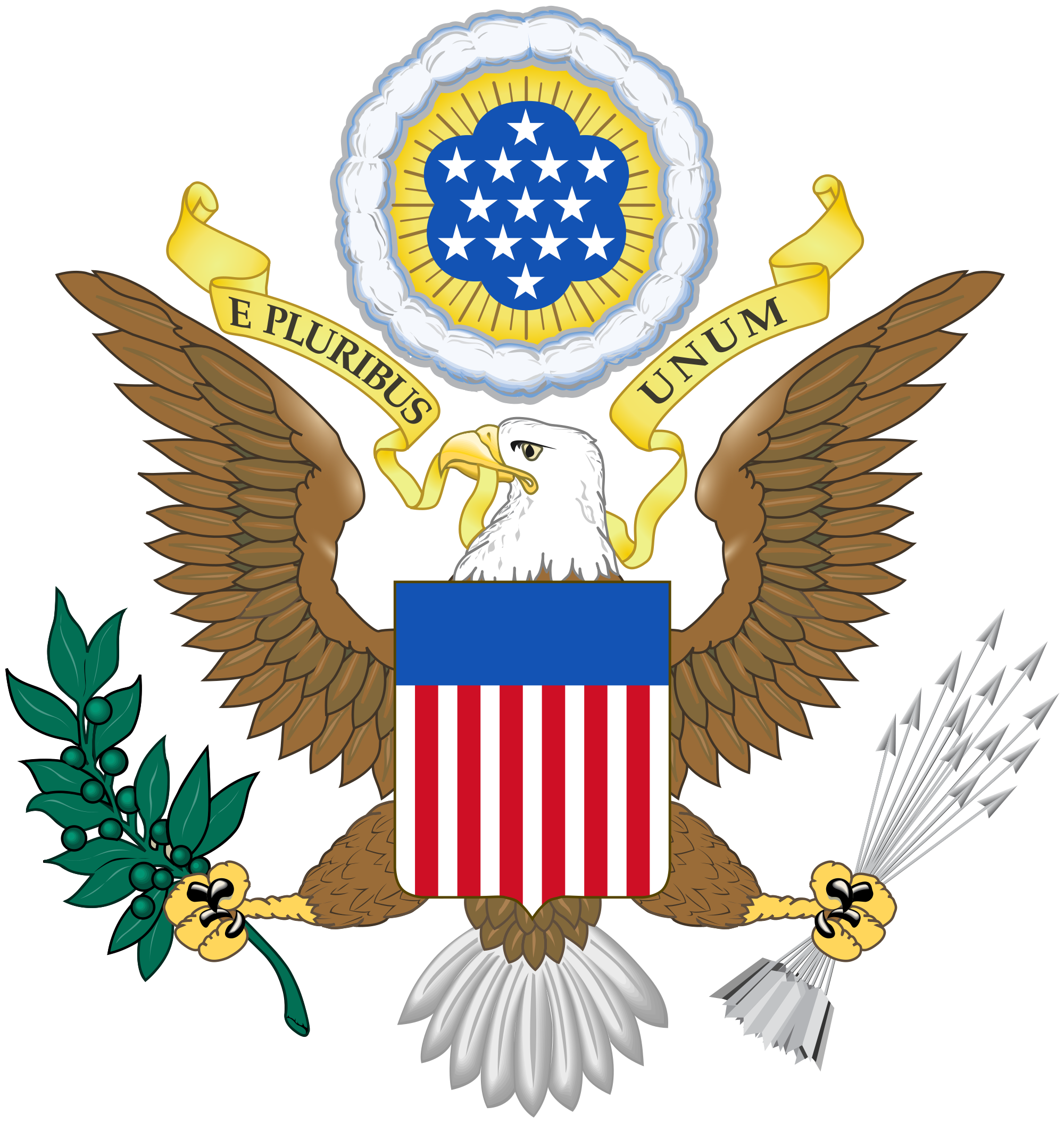 Great seal of the. Us vector nation jpg black and white library
