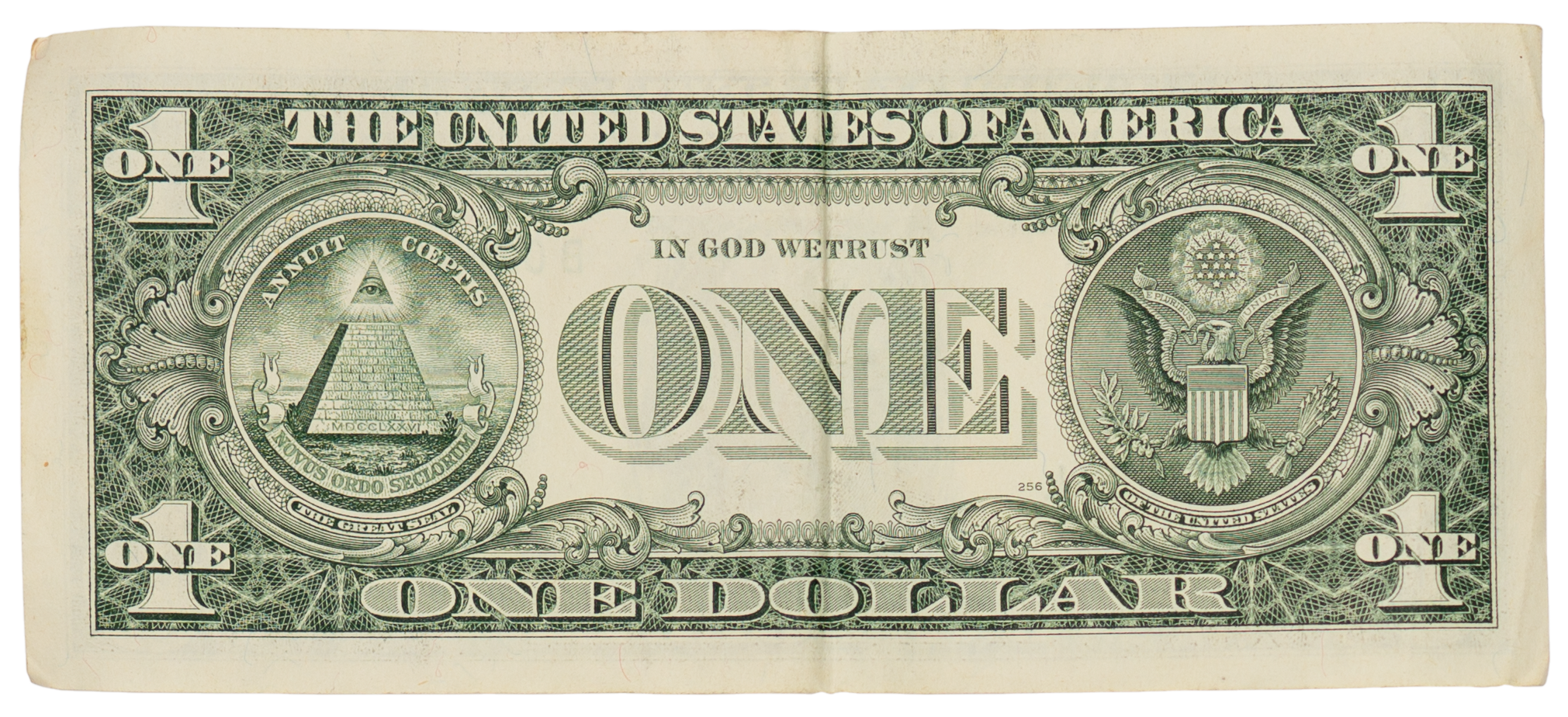 1 dollar bill png. United states one banknote