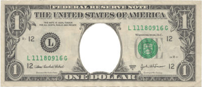1 dollar bill png. One transparent images pluspng