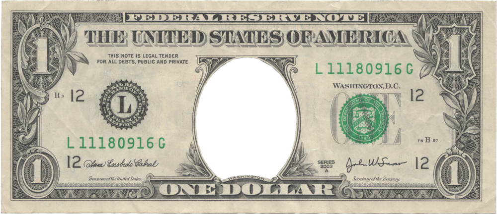 1 dollar bill png. One psd official psds