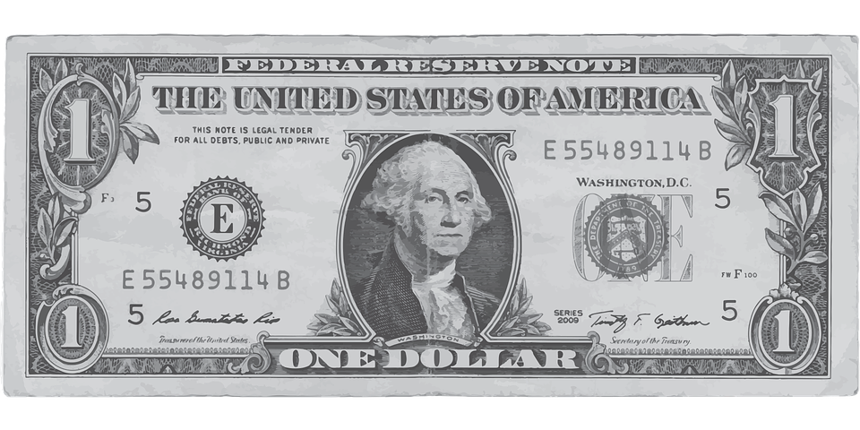 Us dollar png. One bill transparent images