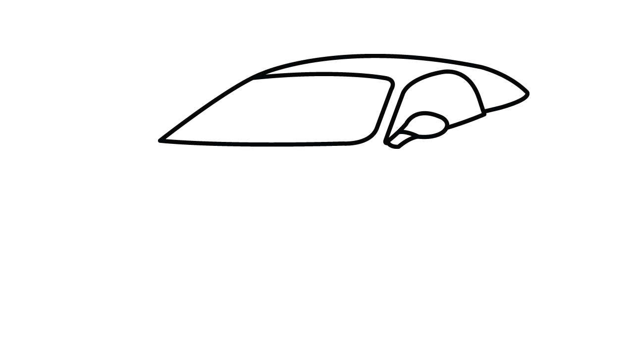 How to draw ferrari. Latest drawing easy graphic royalty free stock