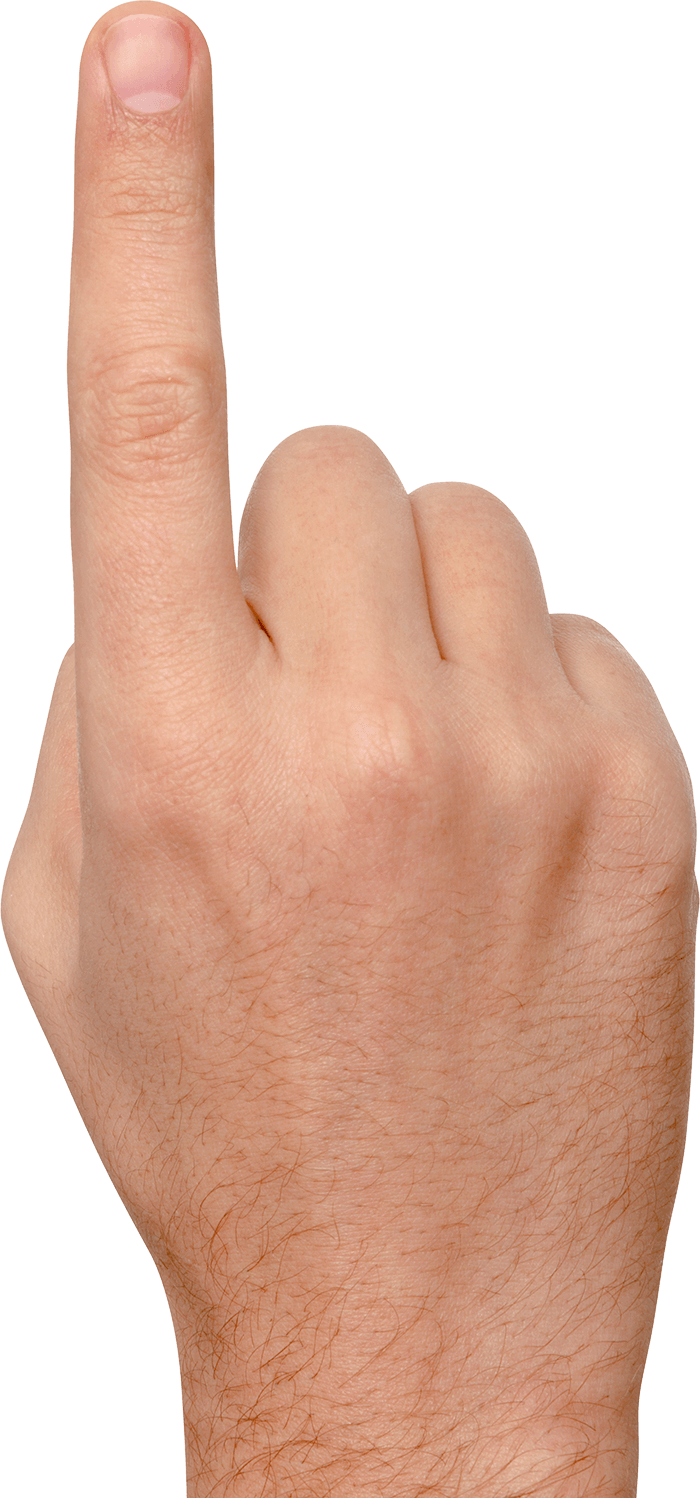finger pointing up png