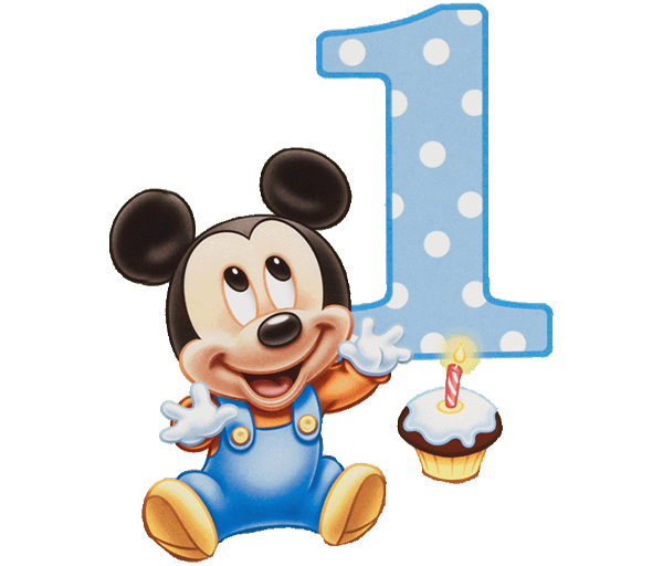 Mickey mouse one png. Polka dot disney birthday