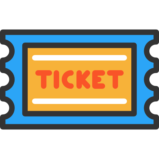 1 ticket png. Icon page svg