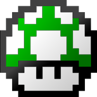 Mario 1 up png. Super bros brothers mushroom