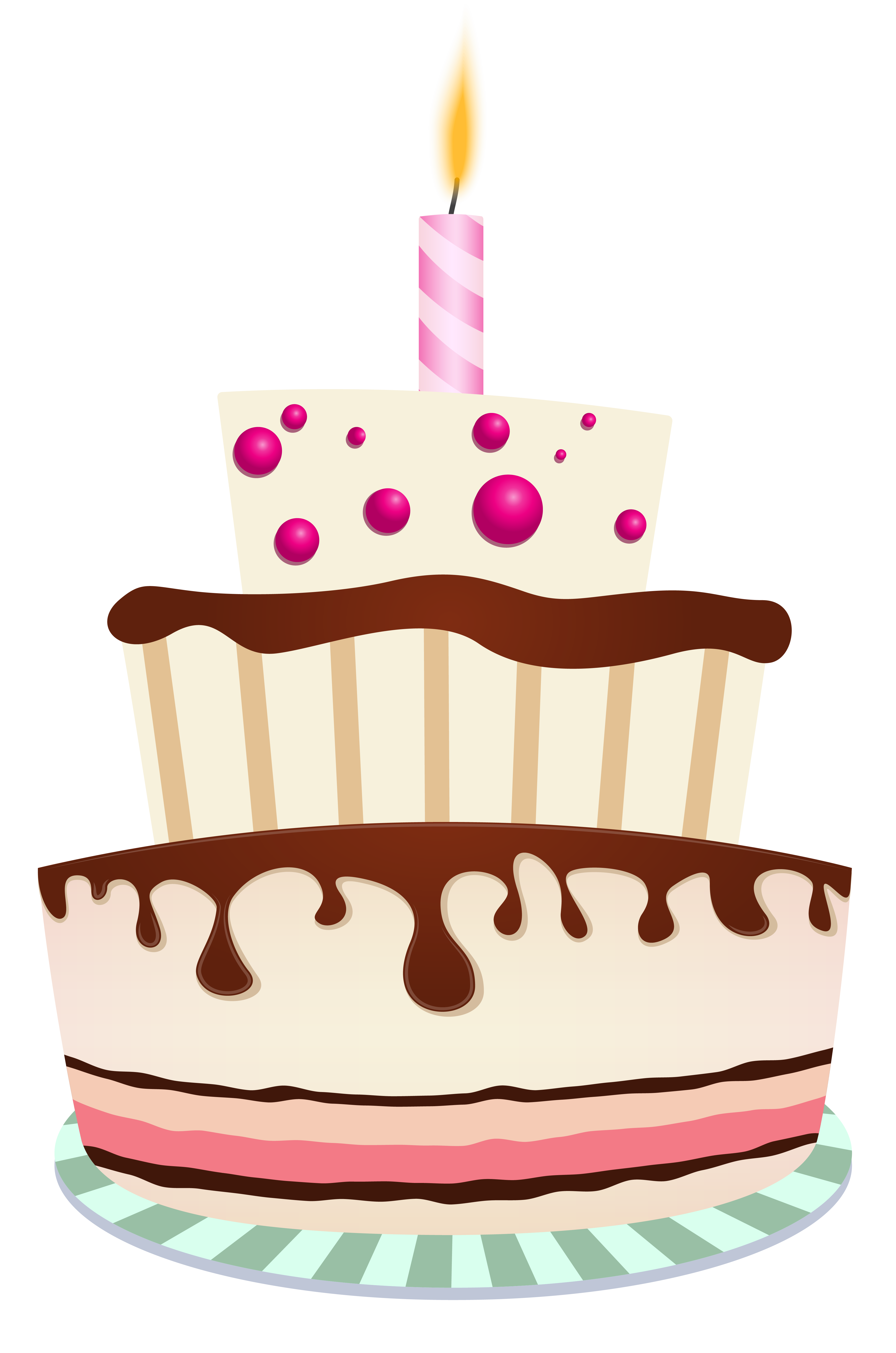 Transparent candles birthday cake. With one candle png
