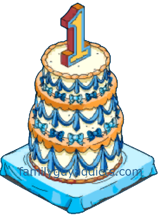 Happy cake and clams. 1 year birthday candles png banner royalty free download