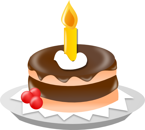 1 year birthday candles png. Chocolate cake with one graphic library library