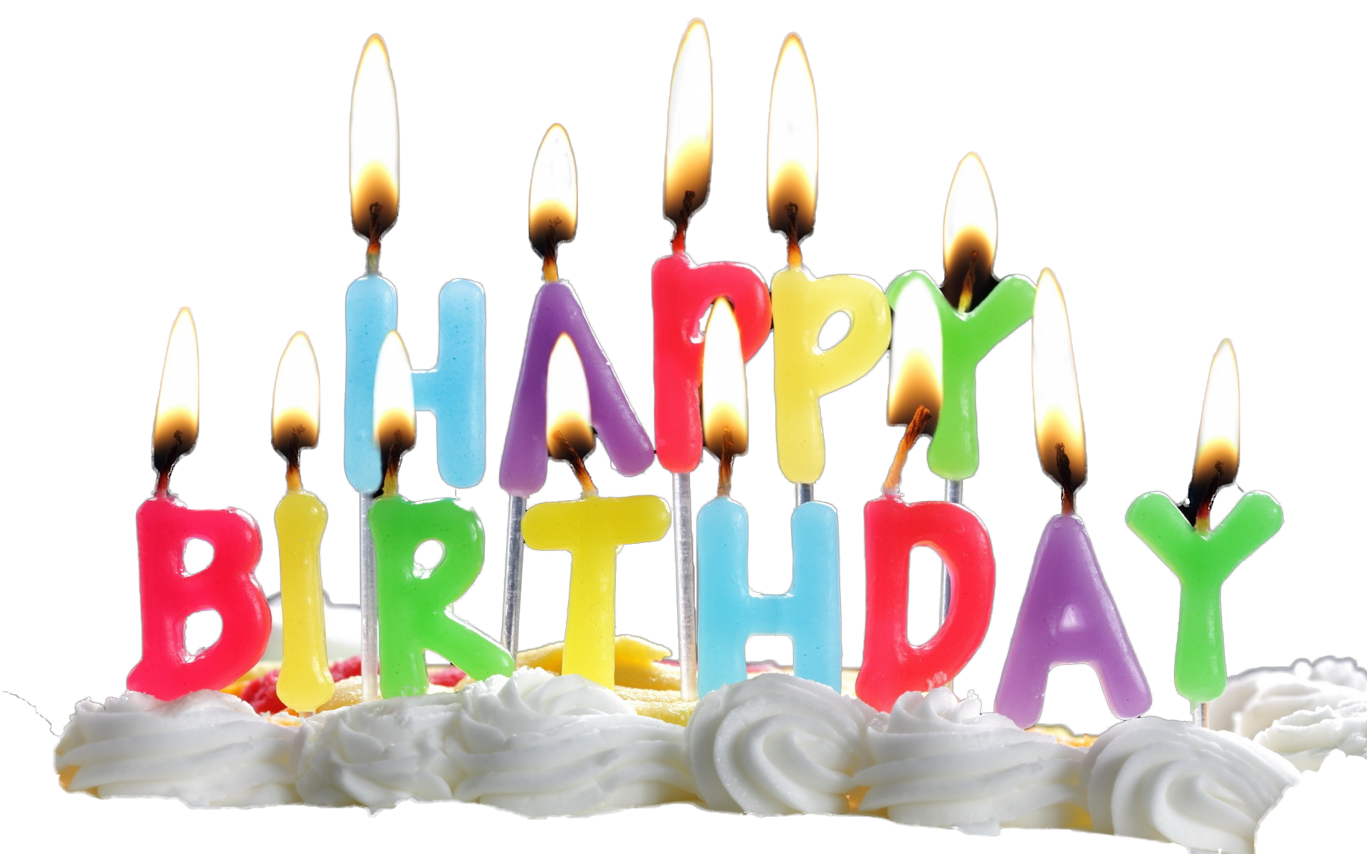 Transparent candles birthday cake. Png free images only