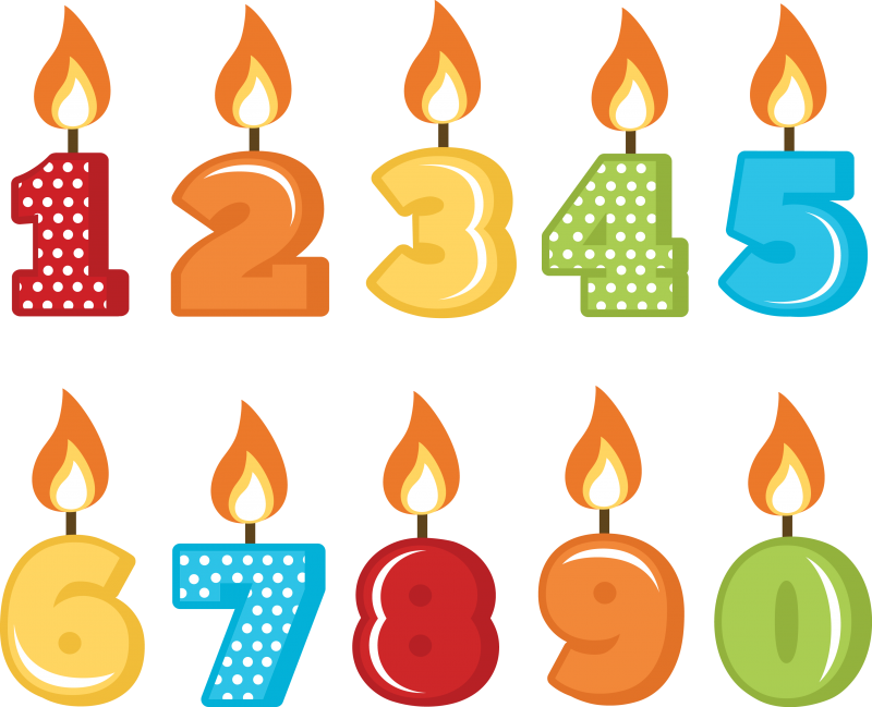 Number candles png. Birthday transparent images all