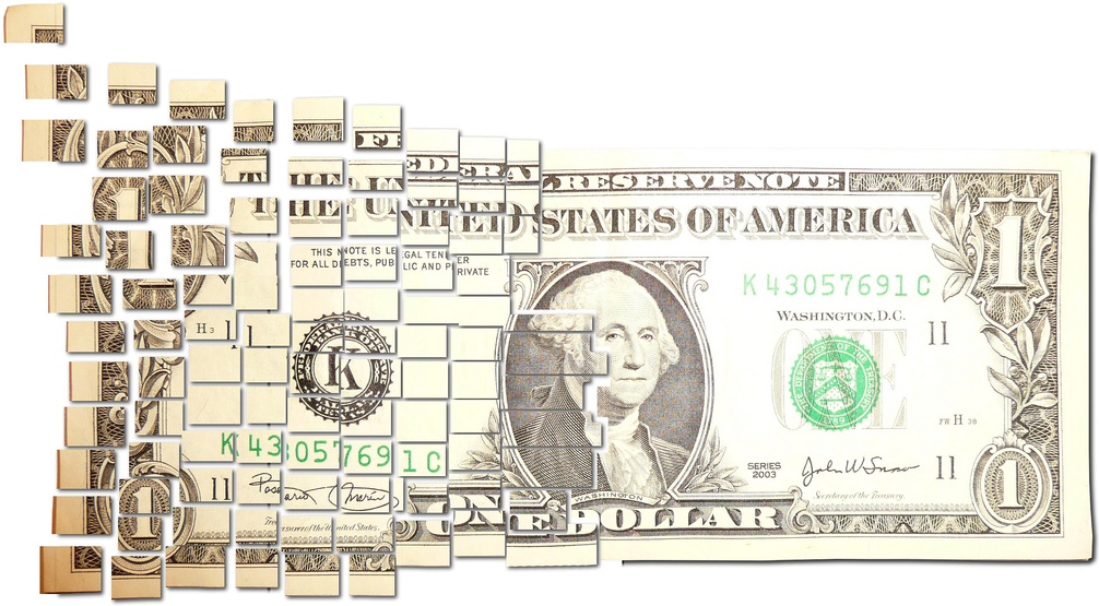 10 dollar png. Image torn and cut