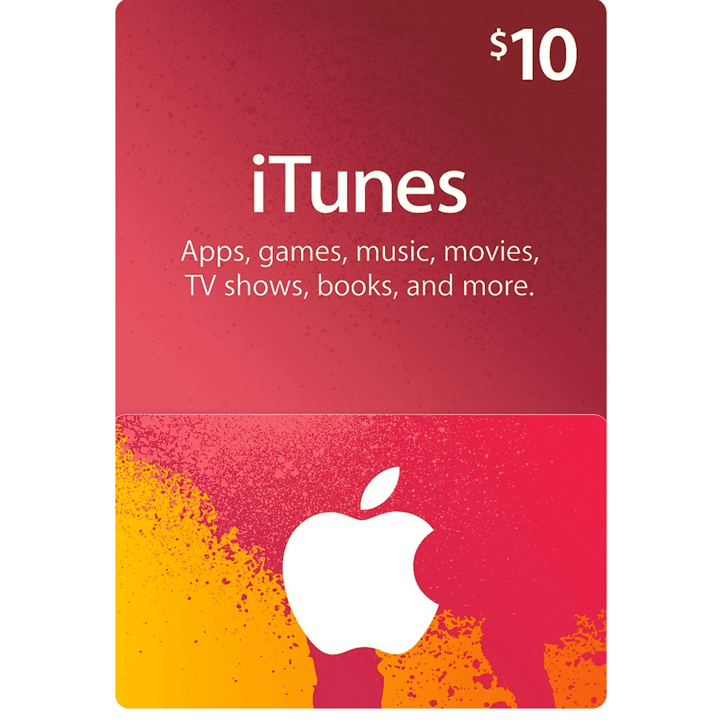 $10 png gift. Itunes card us