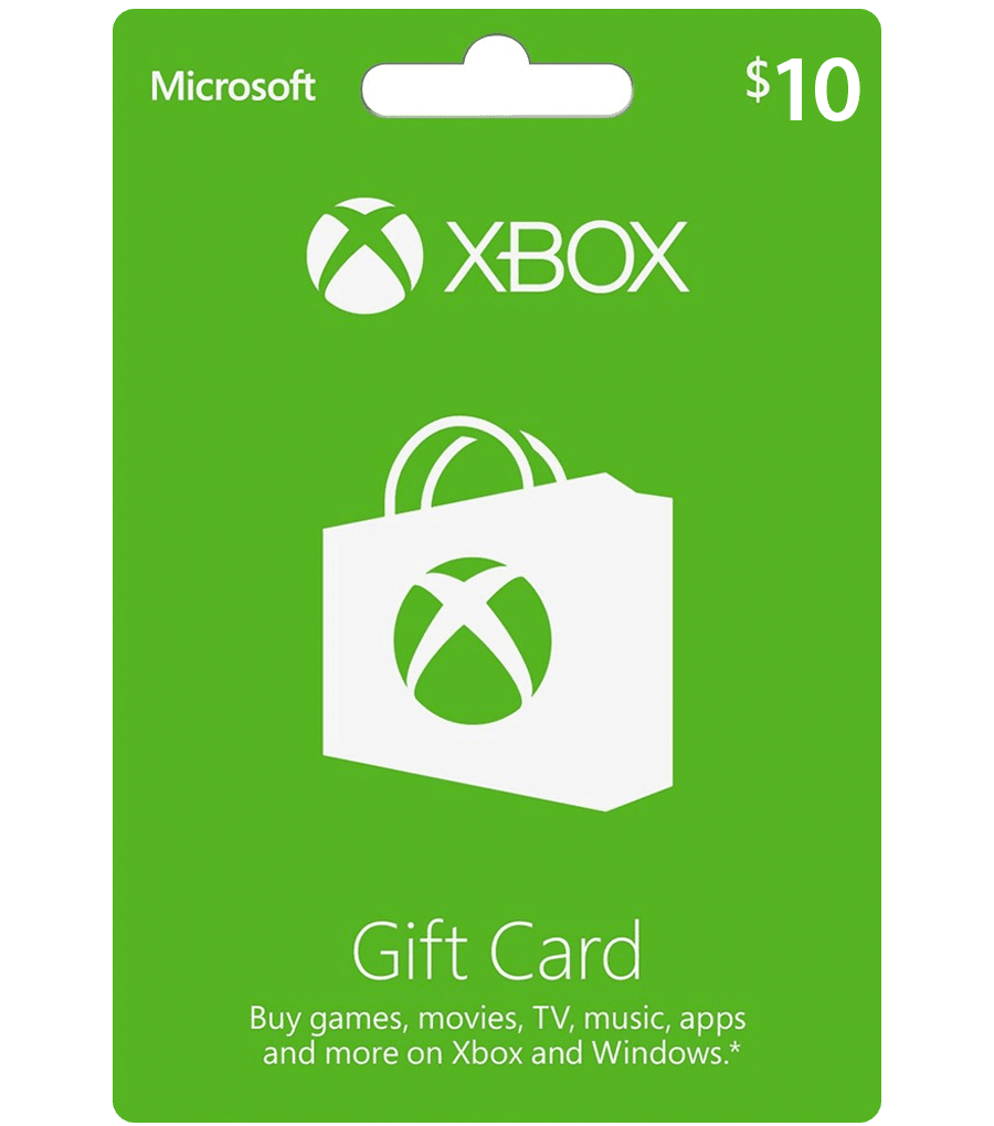 $10 png gift. Cards xbox card live