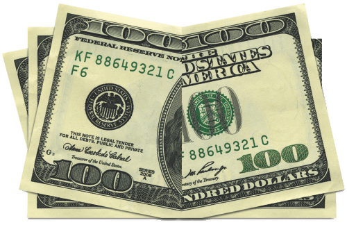 board drop card. Blue hundred dollar bill png svg royalty free library