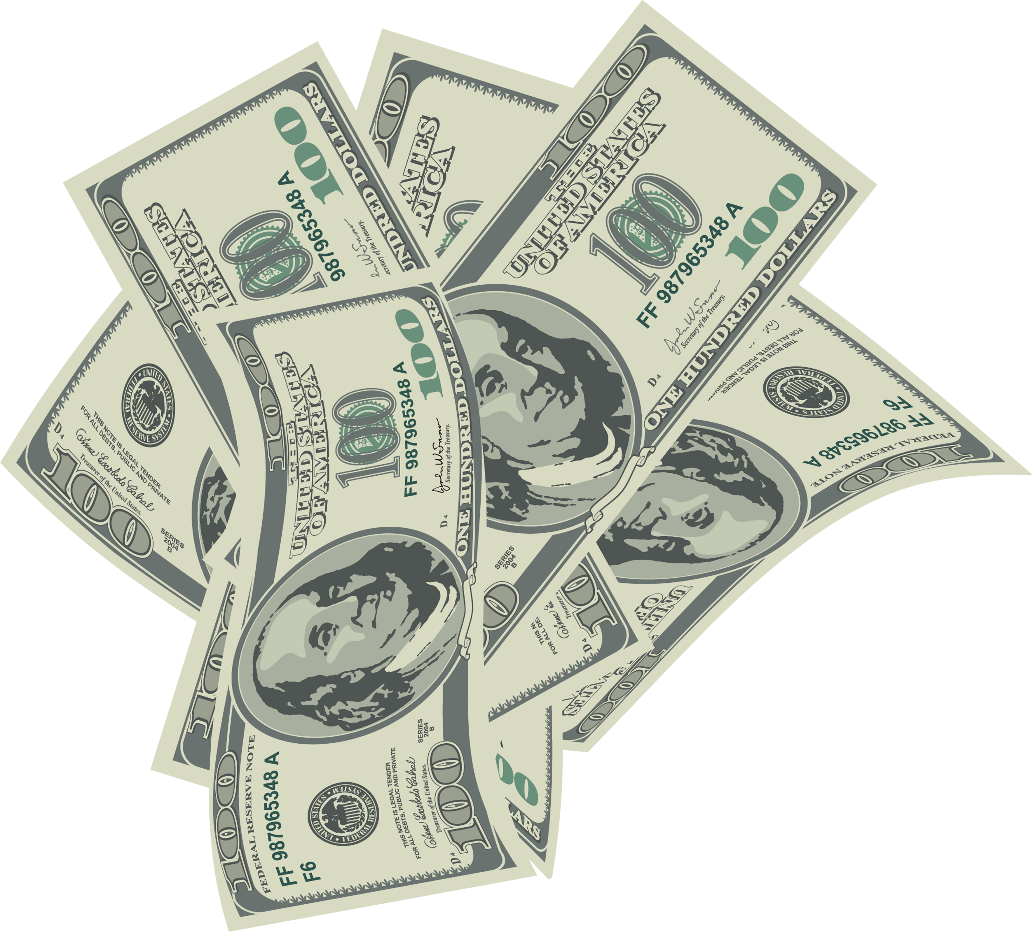 $100 bill png. Collection of dollar