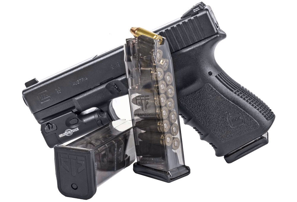 Weapon clip 5 round. Ets group translucent glock