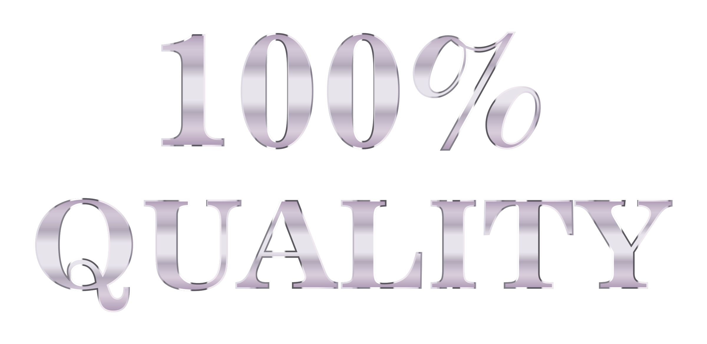 100 clipart 100 percent. Quality typography silver no