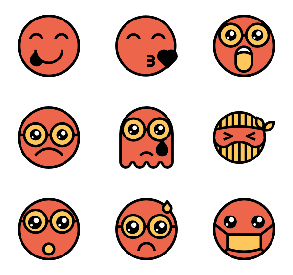 100 clipart emoji. Icon packs vector