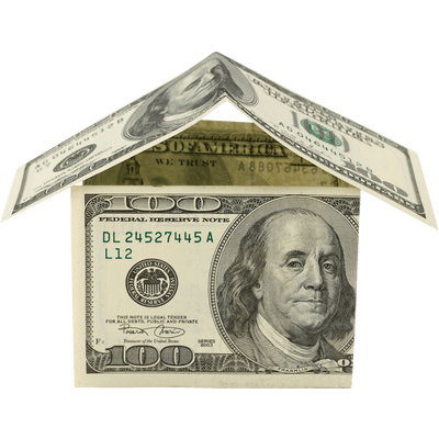 100 dollar png. Money house dollars transparent