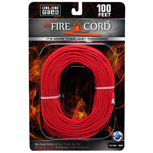 100 feet png. Firecord red live