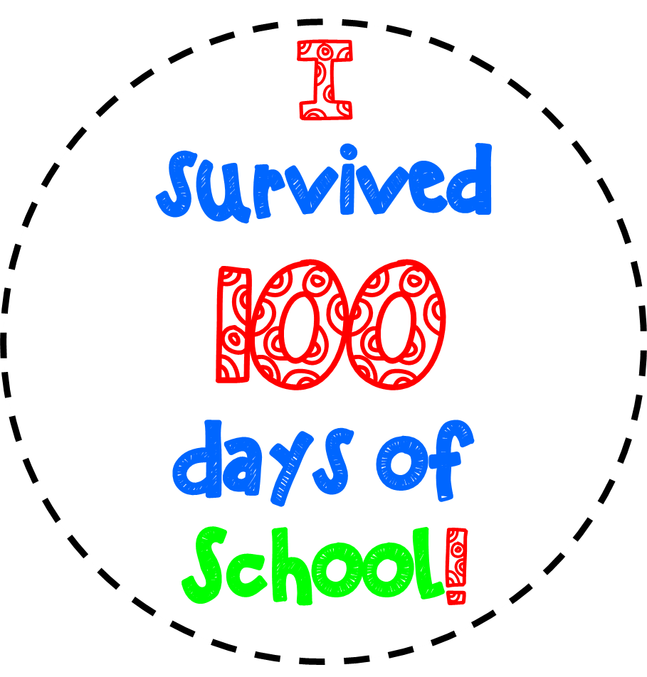100th of clipart. Free th day school