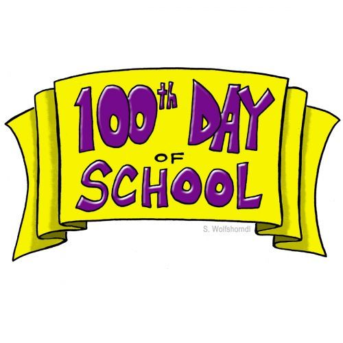 100th of clipart. Th day school