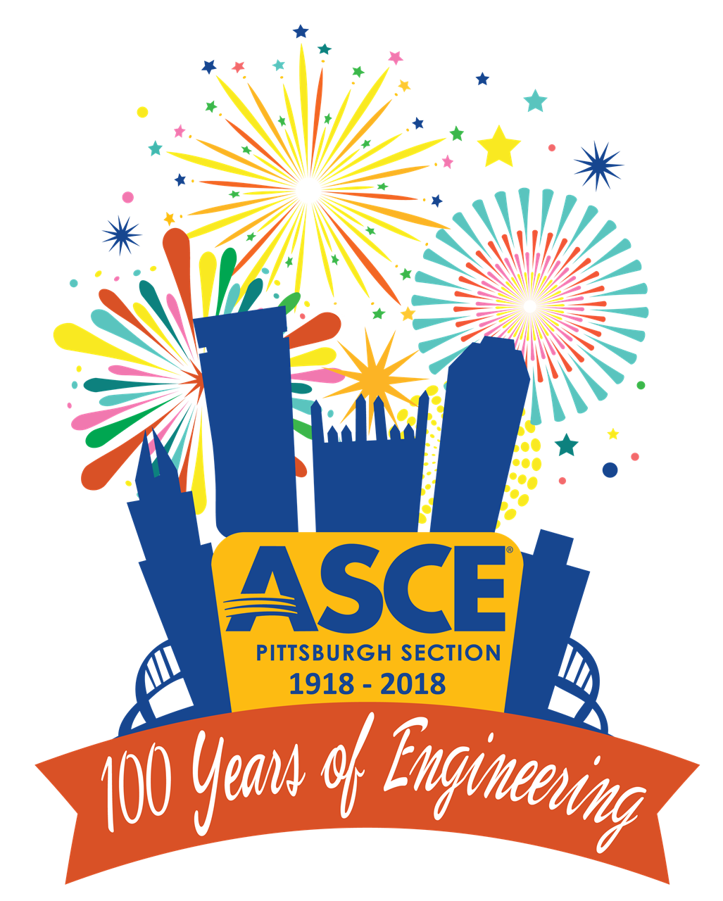 100th of clipart anniversary. Asce pittsburgh section th