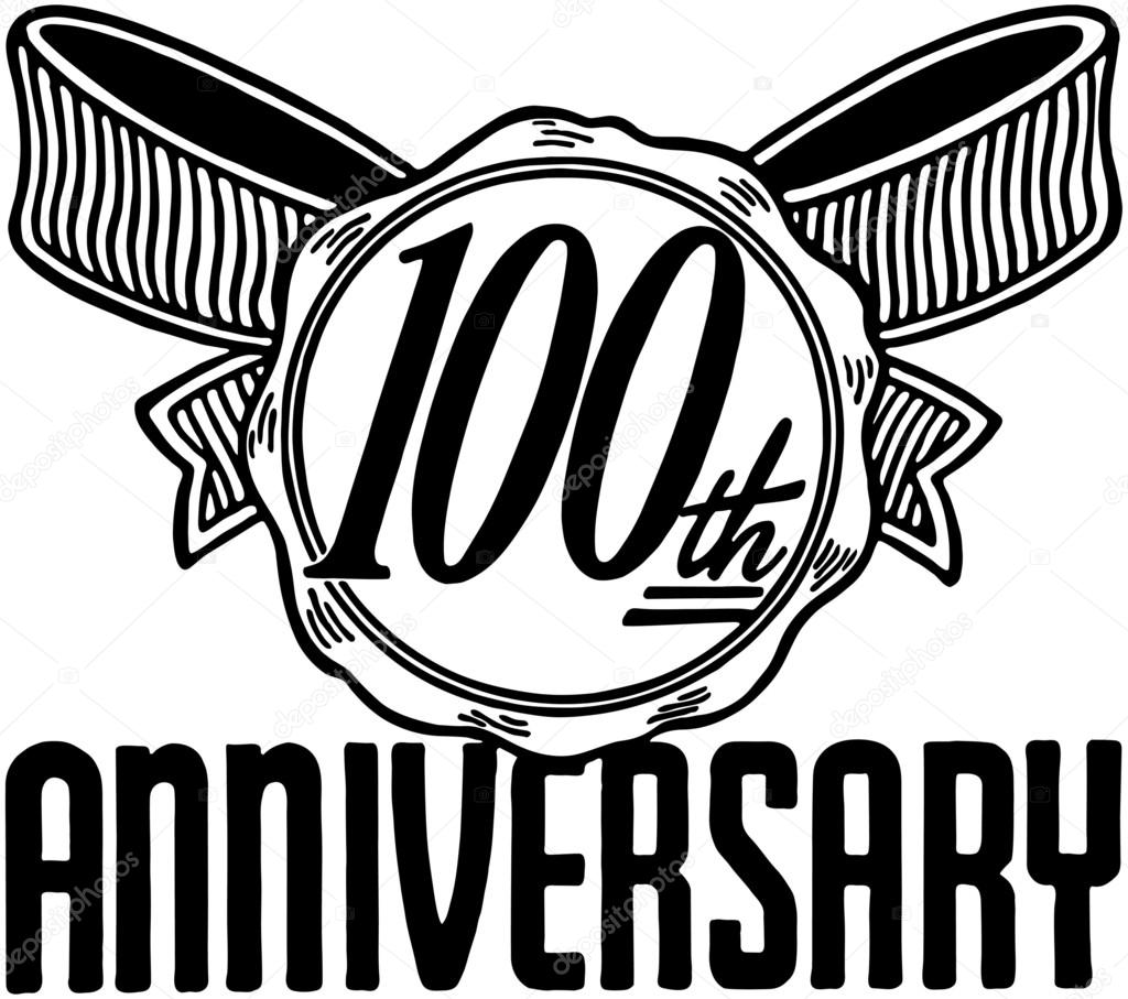 100th of clipart anniversary. Th banner stock
