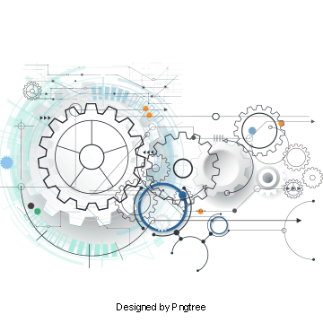 Future vector information technology. Gear png images vectors