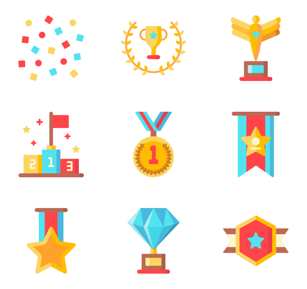 123 vector medals. Medal icons free awards