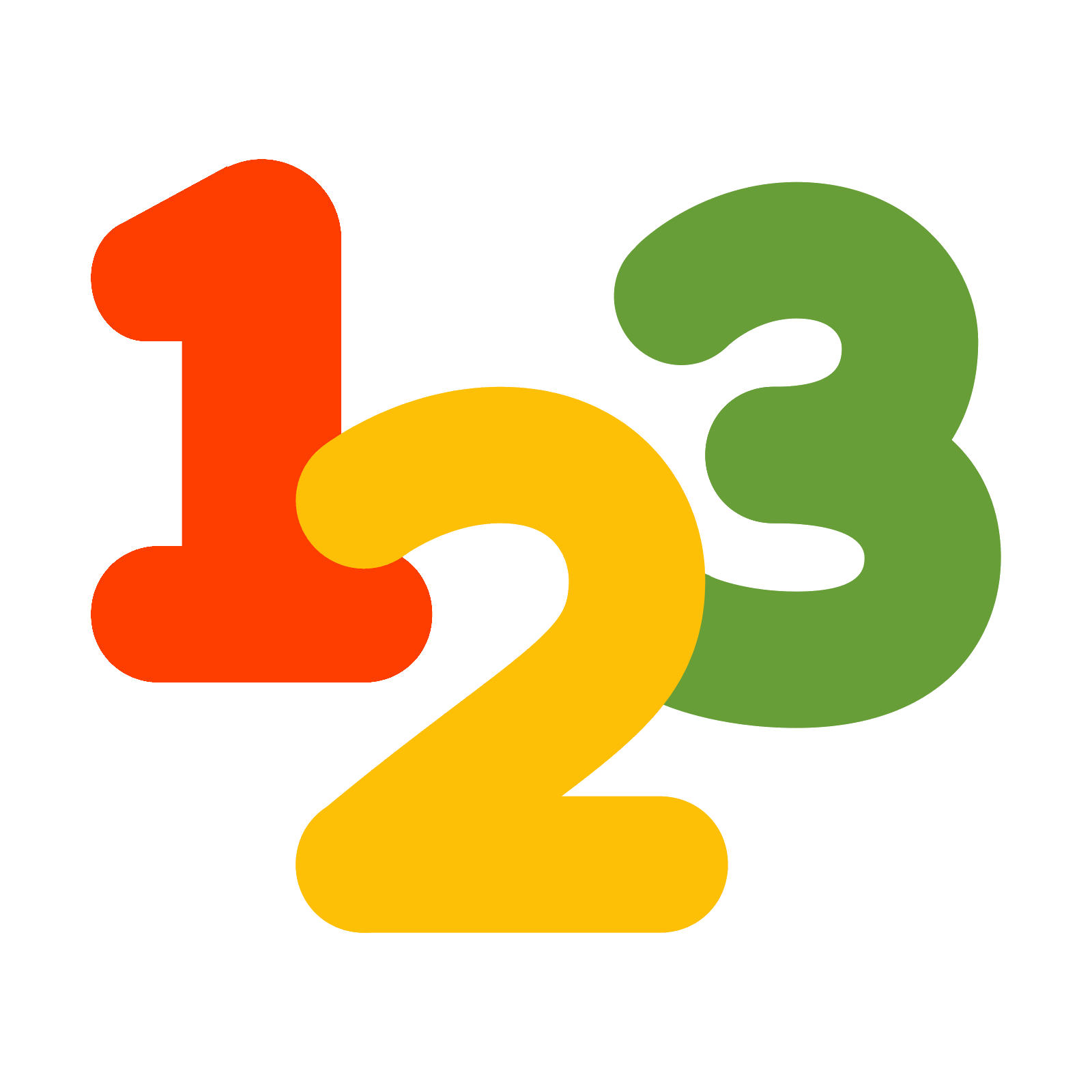 123 vector clipart. Free icon download digits