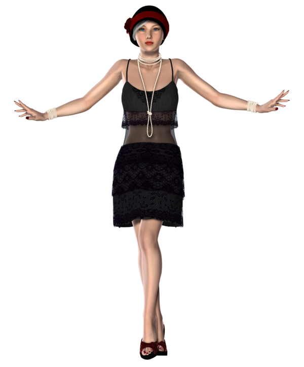 1920s girl png. S flapper by