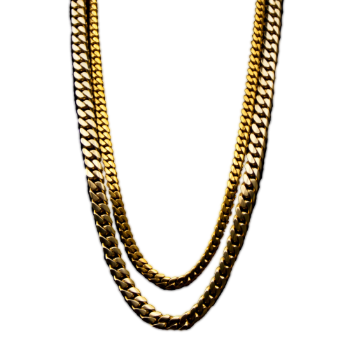 Dollar transparent gold chain