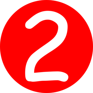 Signs vector number 2. In red clipart download