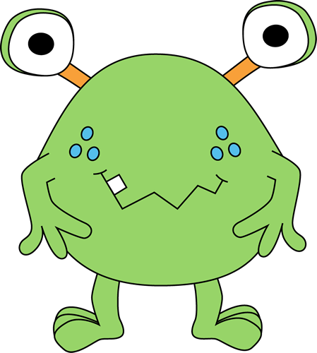 Vector monsters water. Free cute monster clip