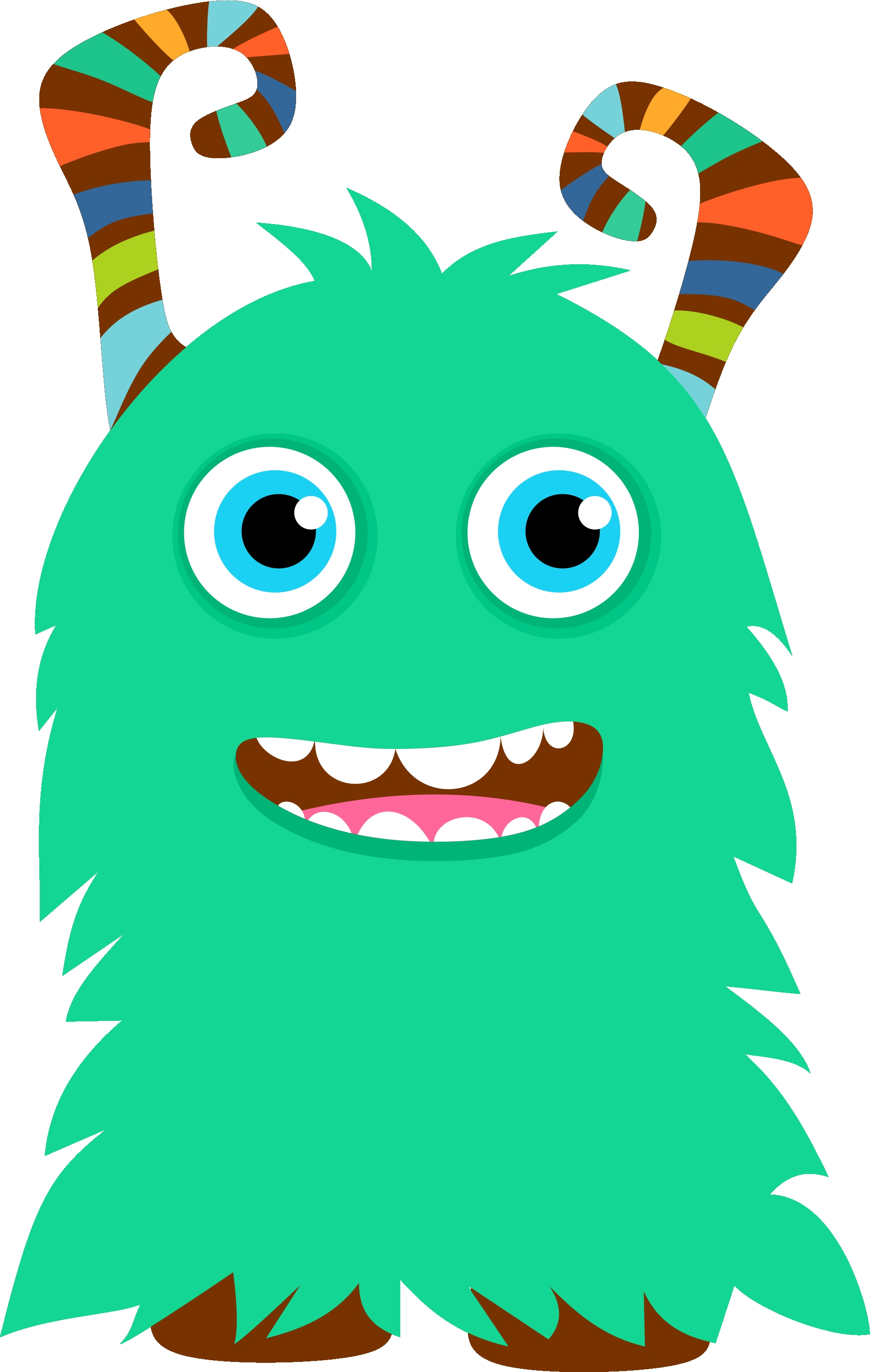 2 clipart monsters. Best of monster collection