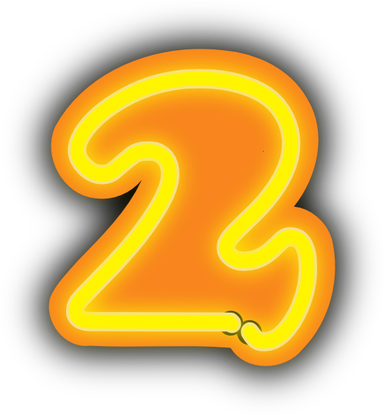 2 clipart orange. Number clip art free