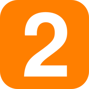 2 clipart orange. Number