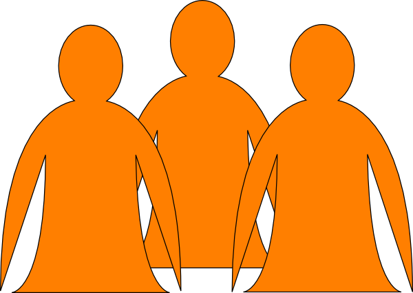 2 clipart orange. Abstract people clip art