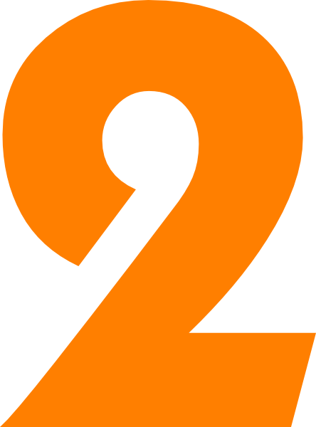 2 clipart orange. Number pencil and in