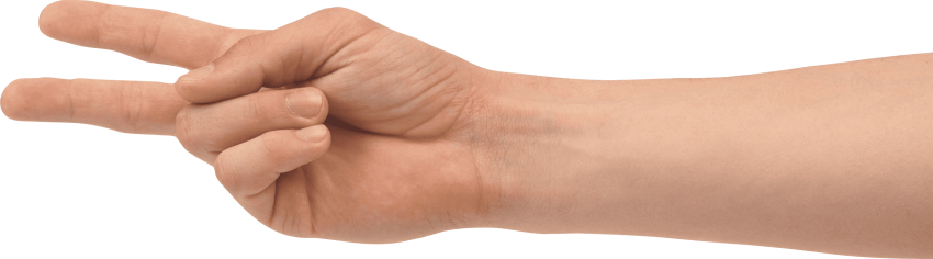 2 finger png. Two hand free images