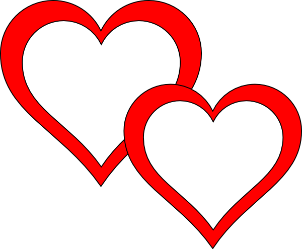 clip art clipart. 2 hearts png black and white stock