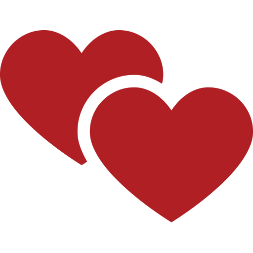 2 hearts png. Two emoji for facebook