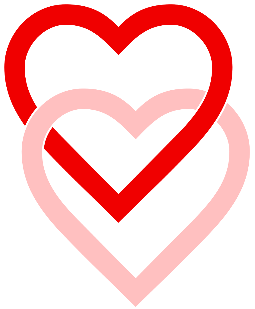 2 hearts png. File interlaced love svg
