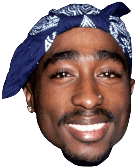 2 pac png. Tupac face transparent stickpng